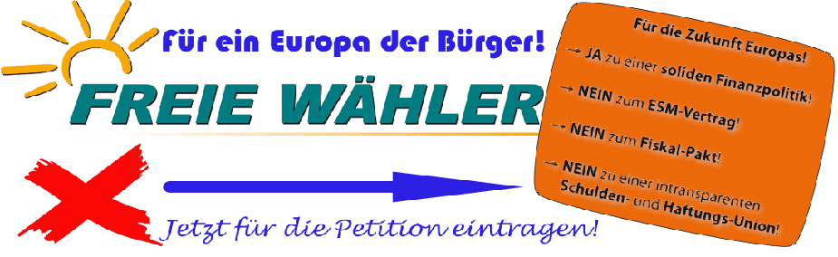 Banner EURO-Petition